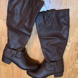 Rampage Intense Brown Riding Boots Size 8